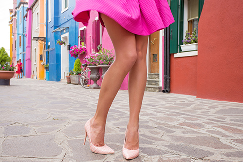 beautiful legs with no varicose or spider veins