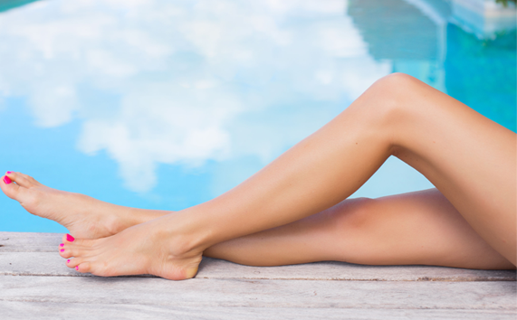 woman legs no vein problems